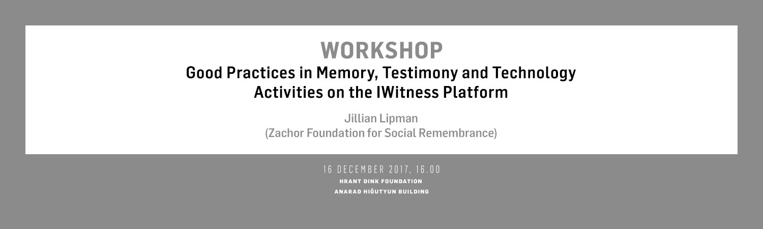 Good Practices in Memory, Testimony, and Technology: Activities on the I Witness Platform